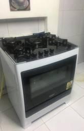 Fogão Dako Automático vidro 5 bocas seminovo 4 meses de uso