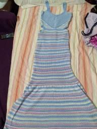 Vendo um Lindo vestido azul usado 2x