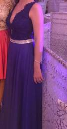 Vestido azul marinho de festa (p/38)