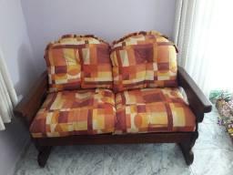 Conjunto de sofá country de dois e três lugares