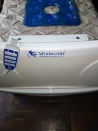 Cama hospitalar Medworld em excelente estado com colchão hospitalar e colchão pneumático.