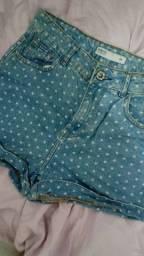 Título do anúncio: Short Jeans Cintura Alta Estampado