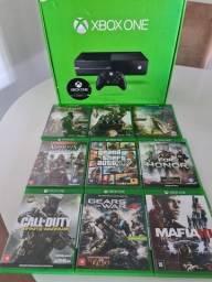 Xbox one Fat com 9 jogos