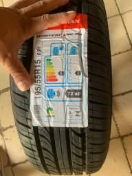 Dois pneus 195/55/15 já no lugar em 8x de 92,00 nos cartões