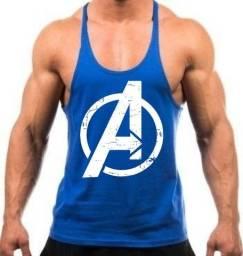 Camiseta Regata De Academia Dos Vingadores Avengers Cor Azul