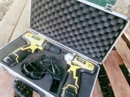Kit parafusadeira e parafusadeira de impacto