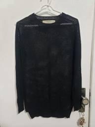 Suéter tricot Zara preto