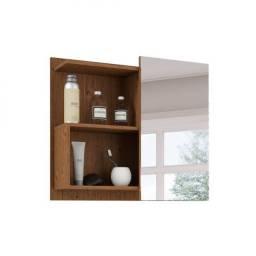 Espelheira para banheiro com 1 porta 60CM- LIS- MGM- Amêndoa