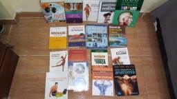 Coleção de livros novos para alunos que fazem faculdade de educação fisica