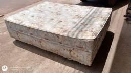 Cama unibox casal espuma usada