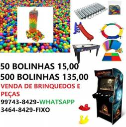 venda de brinquedos , peças , bolinhas , fliperamas