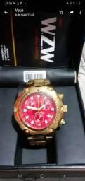 Relógio WZW dourado masculino