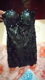 Título do anúncio: Vestido preto de lantejola