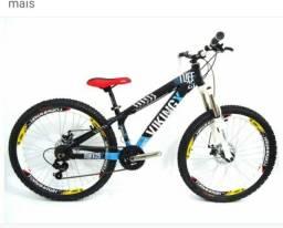 Bicicleta alumínio Freio a disco aro 26