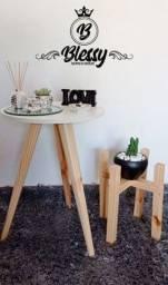 Mesa retrô, Plantas e Artigos de Decoração