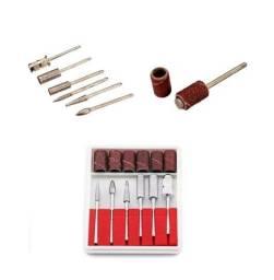 Kit p Microretifica Ponta Diamantada + Lixa - Uso Geral Manicure Artesão - Micro retifica