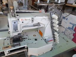 Máquina de Costura Elastiqueira Industrial, 4 agulhas, 8 dois. Sun Special.