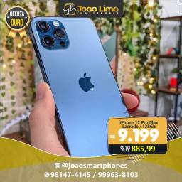 IPHONE 12 PRO MAX, 128GB, AZUL, NOVO