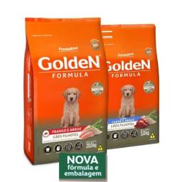 Ração premier golden 20kg para cães filhotes frango e arroz.