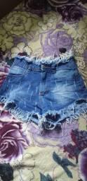 Short jeans semi novo  tamanho 36