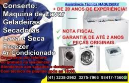 Conserto Maquina de Lavar Roupa/Lava e Seca/Secadora/Geladeira * Curitiba/Pinhais