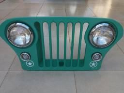 Grade Jeep Antiga Com Iluminação