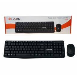 Kit Teclado E Mouse Office Sem Fio Wireless Hayom TC3211 - Loja Dado Digital
