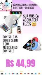 Lâmpada Bluetooth Led 12w Music Caixa De Som + Controle