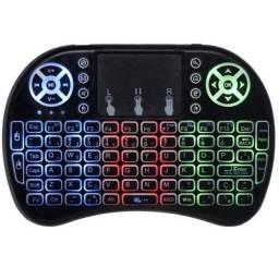Mini Teclado Bluetooth Touch Luz Colorida Sem Fio