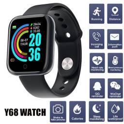 Relógio Smart Y68 (Simplesmente o Melhor)