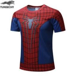 Camisa Homem Aranha 3D Academia Muito Parecida Com Dos Filmes