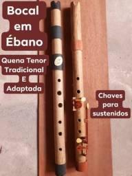 Flauta Quenas Tenor tradicional e adaptada