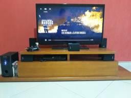 Vendo TV com Home Theater