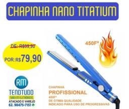 Chapinha profissional nano titanium (450ºF ) Nova com garantia