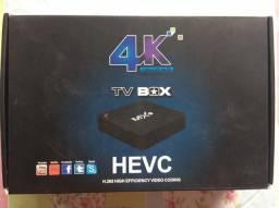 TV Box - Ultra HD 4K - muito novo e completo