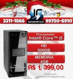 CoMpUtAdOr InTeL CoRe i5 | 4GB| HD 500GB | NOVO| 01 Ano De Garantia Loja| 3211-1866