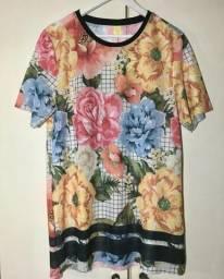 T-shirt farm tela maxi chita