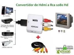 Mini Adaptador Conversor De Hdmi Para Video Composto 3rca Av