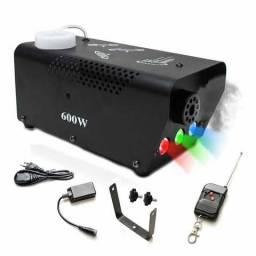 Máquina De Fumaça 600 w Dp Y5 Com Led Rgb + 2 Controles (C/ Fio E Remoto e entregá grátis)