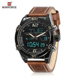 Relógio de Luxo Naviforce - Digital e Analógico - Multifuncional