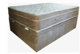 Conjunto casal de cama baú + colchão de molas ensacadas casal