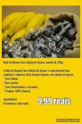 Bala de banana sem açucar
