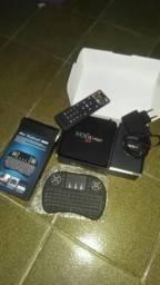 Vendo ou Troco TV box + mini teclado