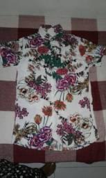 Camisa floral manguezaw!