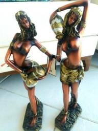 Estatueta africana nova importada decoração mulher