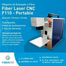Fiber 20W Portátil - Máquina Laser gravação a fibra metal