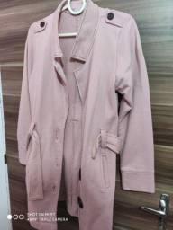 Sobretudo rosa, veste M e G