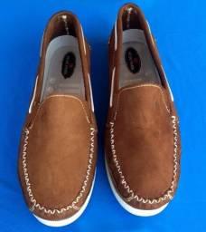 Sapato Dockside estilo Mocassim Couro