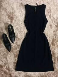 Vestido social azul escuro em Vilhena