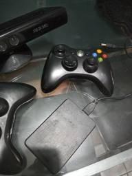 Controles xbox+ kinect + HD com jogos